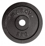 Marcy kotouč Plate Black 5.0kg, Single
